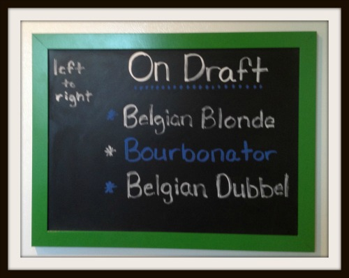 Brews Chalkboard via Food, Booze, & Baggage