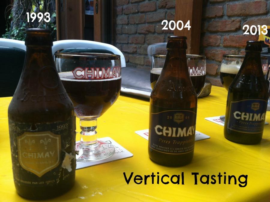 Chimay Vertical Tasting via Food, Booze, & Baggage