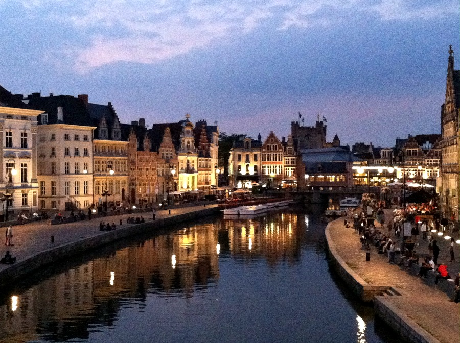Ghent at night via Food, Booze, & Baggage