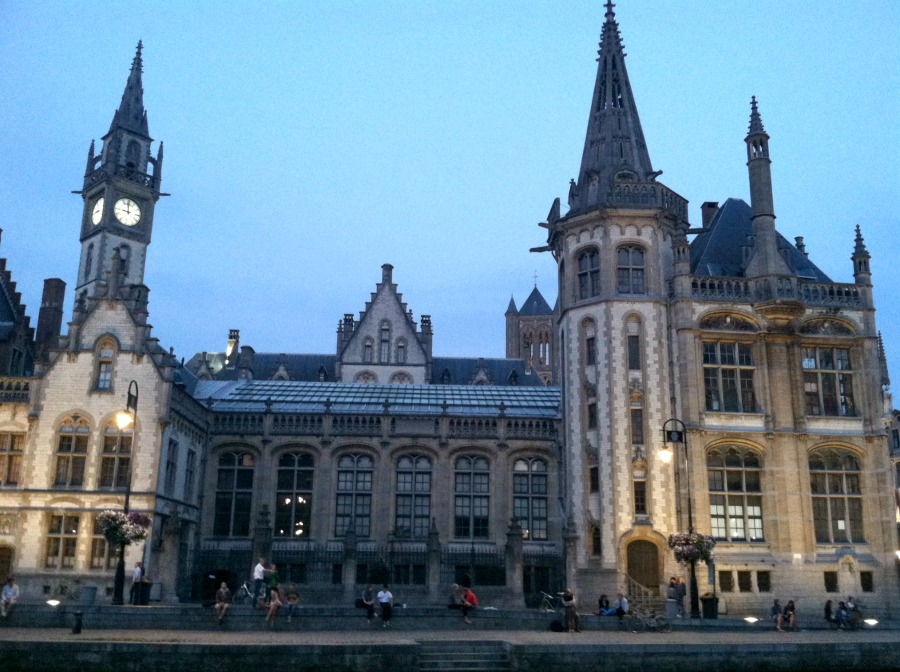 Ghent clock tower via Food, Booze,& Baggage
