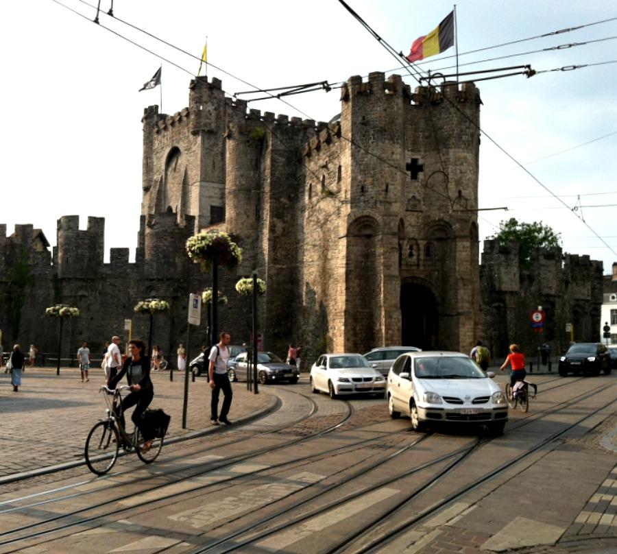 Medieval castle Ghent via Food, Booze, & Baggage