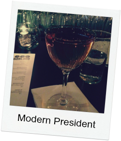 Modern President via Food, Booze, & Baggage