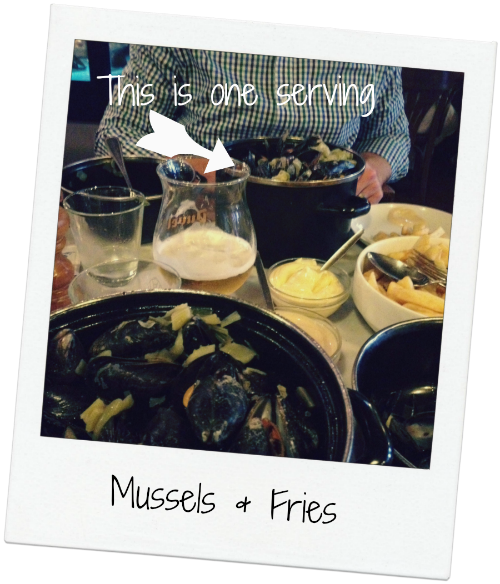mussels and fries in Ghent Belgium via Food, Booze, & Baggage