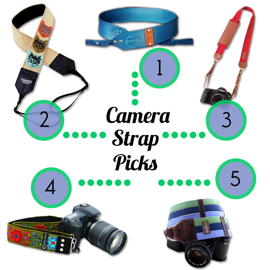 Food Booze & Baggage top five picks for camera straps