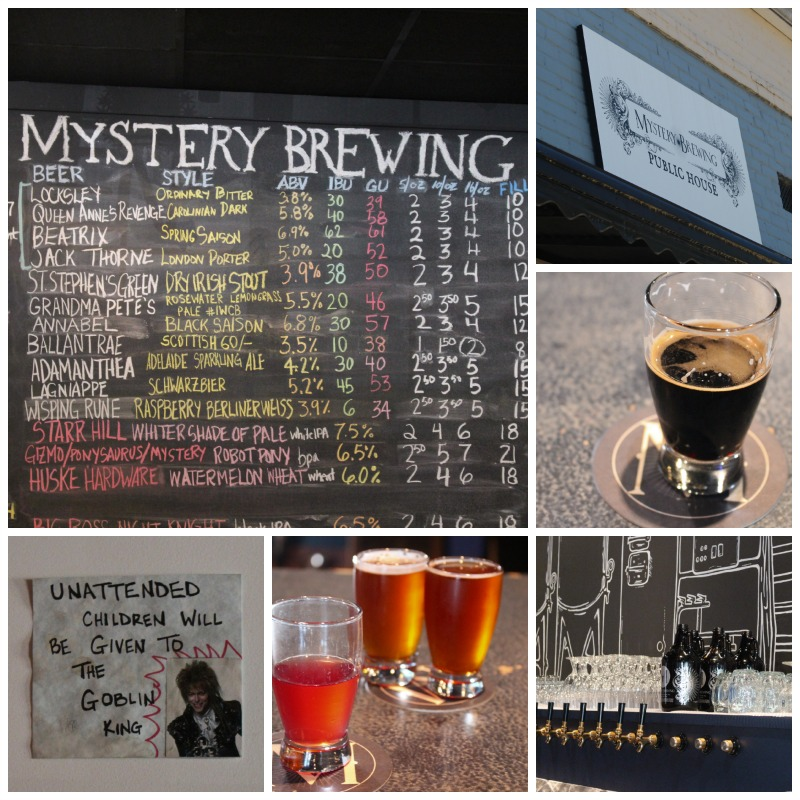 Mystery Brewing via Food, Booze, & Baggage