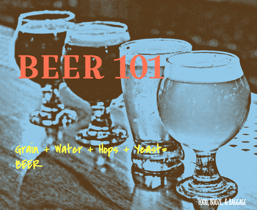 Beer 101 Beer Is via Food, Booze, & Baggage