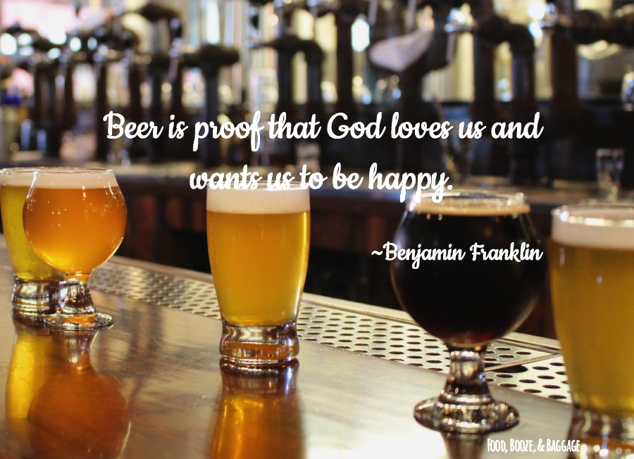 Quote Beer is Proof via Food, Booze, & Baggage