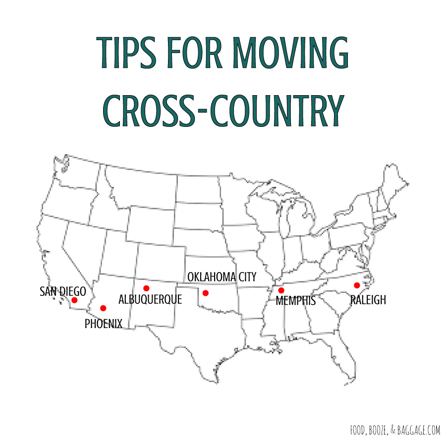 Tips for moving cross-country