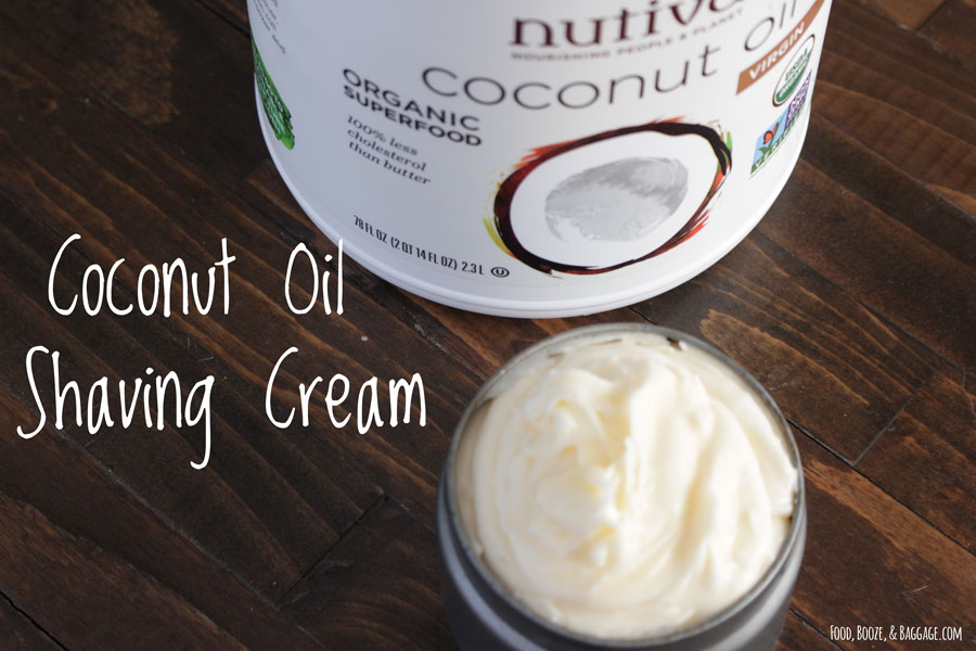 Coconut Oil Shaving Cream~Easy, Easier, & Easiest