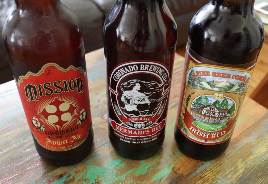 A Sampling of Amber Ales, drink local San Diego