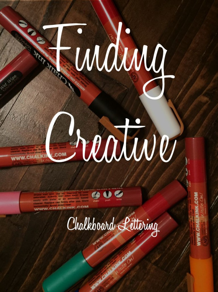 Finding Creative: Chalkboard Lettering Draft List