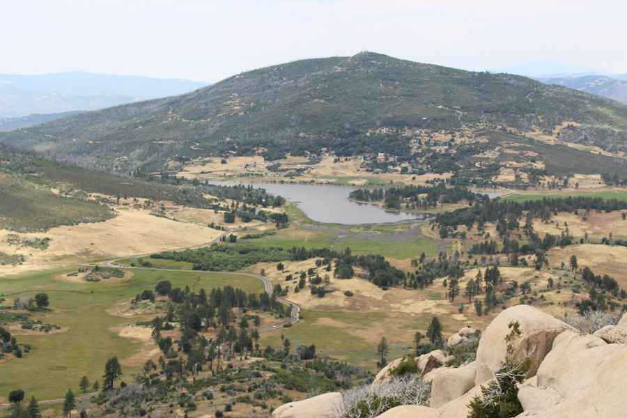 View of lake from the top of Stonewall Peak