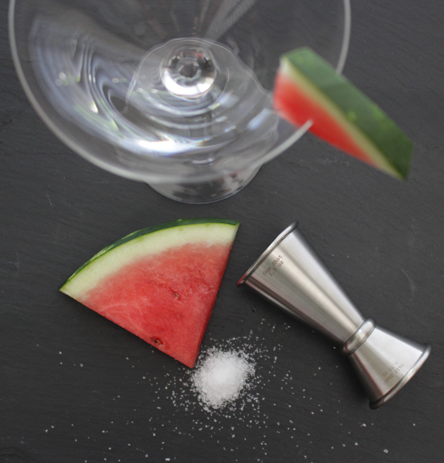Watermelon Martini Glass