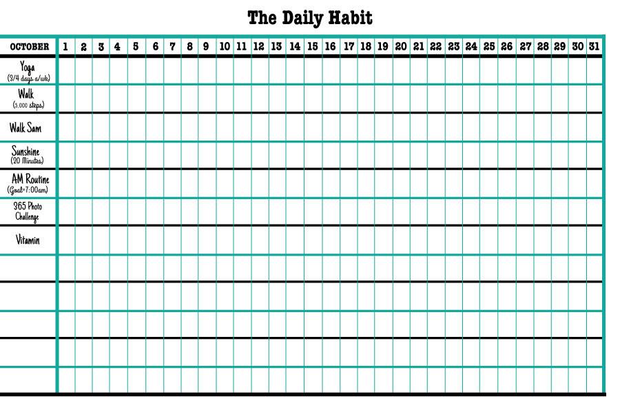 My-October-Habit-List