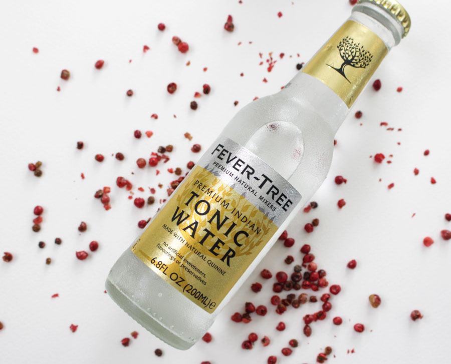 Fever Tree Tonic used with Pink Peppercorn Gin