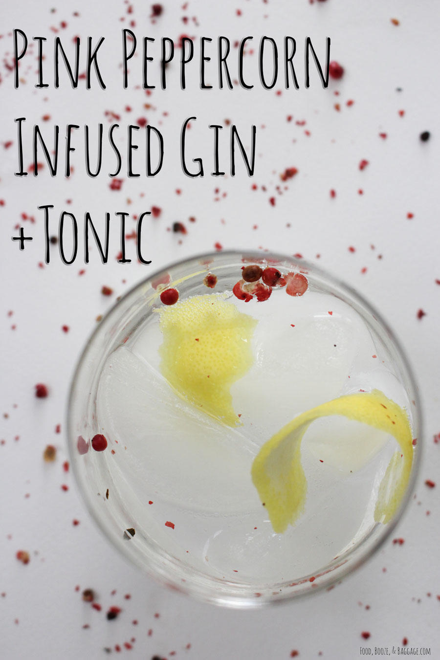 Pink Peppercorn infused gin +tonic