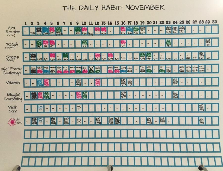 November Daily Haibts