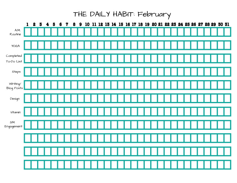 February-Daily-Habit-List