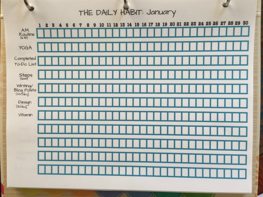 My Daily Habit January