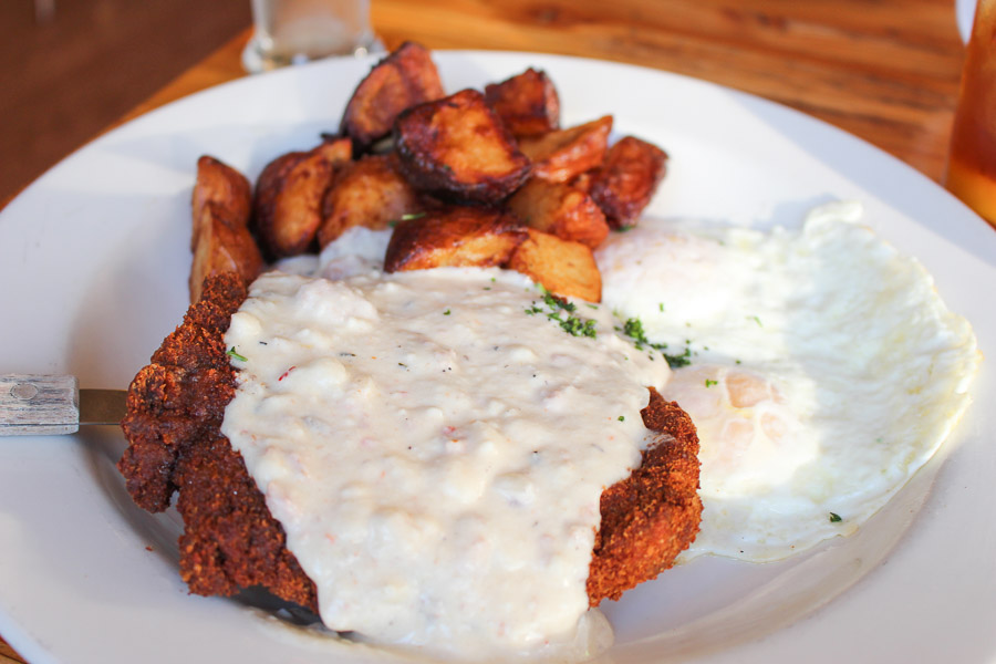 Genie's Breakfast chicken fried steak