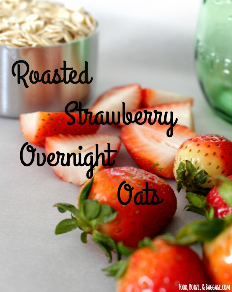 Roasted Strawberry Overnight Oats